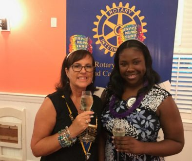 Susie Bodden, President with Johnae Moss, Club Secretary