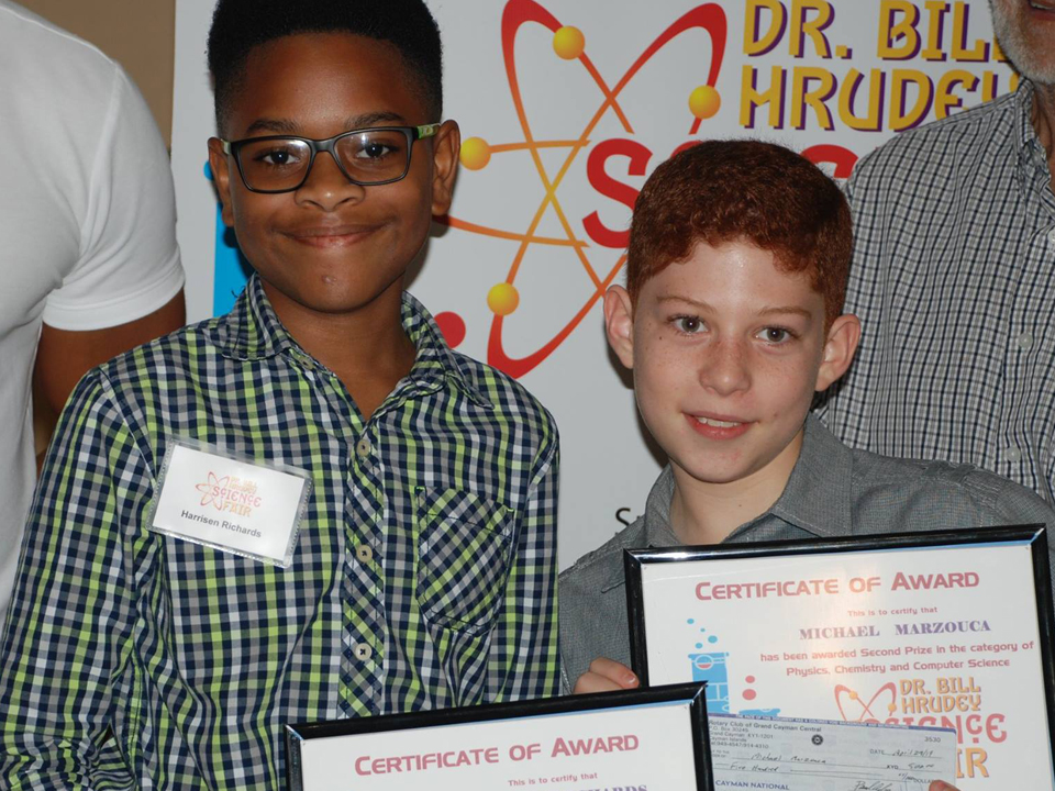 Certificate of Award winners at the Hrudley Science Fair.