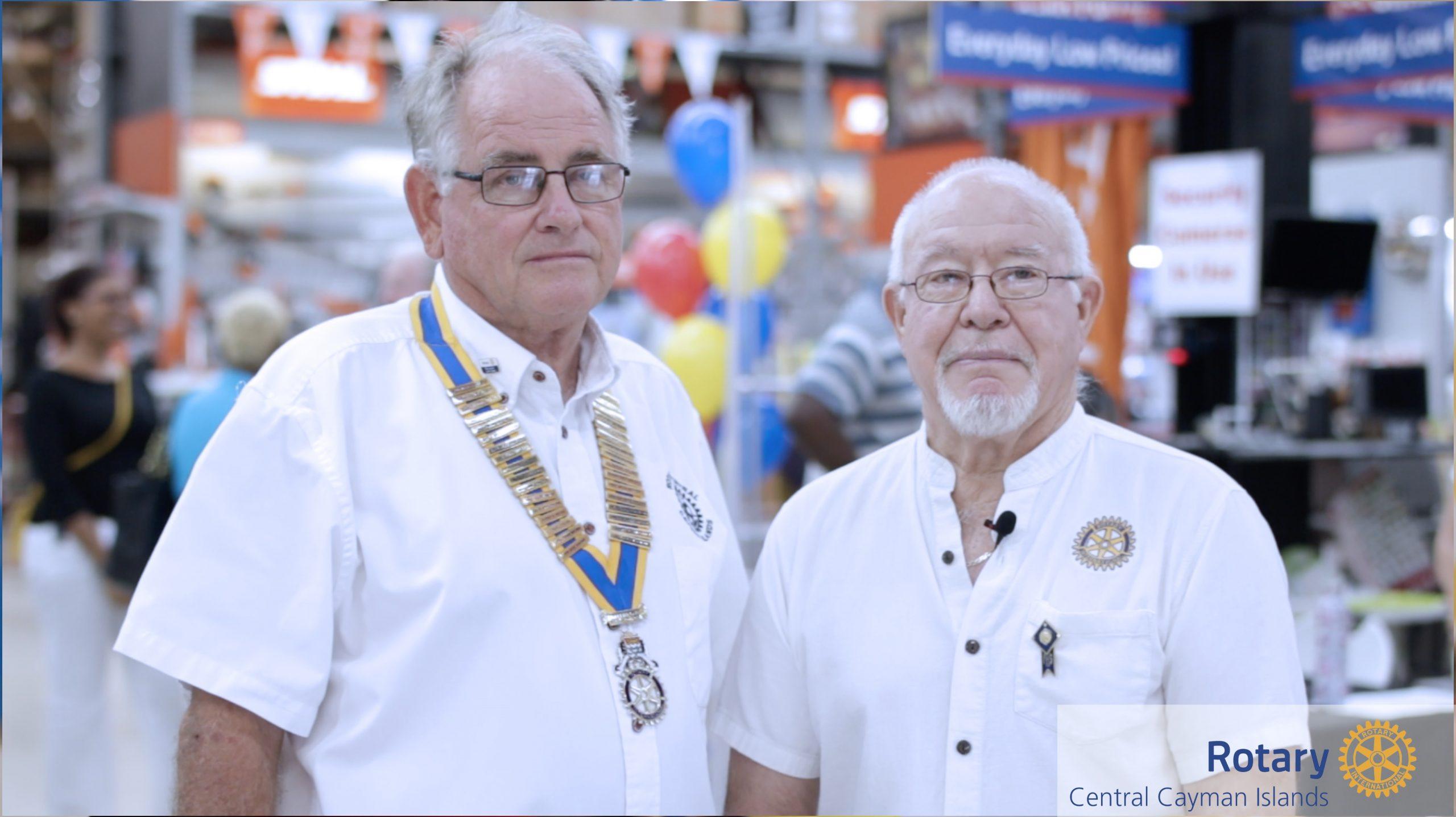 President Colin and Past President John